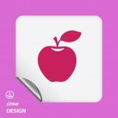 苹果图标 — 图库矢量图片