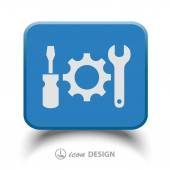 Gear, wrench and screwdriver icons — Vecteur