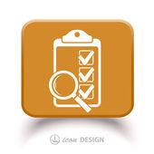 Pictograph of checklist — Stock Vector