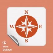 Compass icon — Stock Vector
