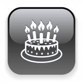 Icona di torta — Vettoriale Stock