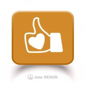 Like icon — Stock Vector