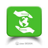 Globe in hands icon — Stock Vector
