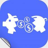 Piglet money box icon — Stock Vector