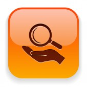 Suche Symbol — Stockvektor