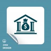Bank icon — Stock Vector