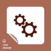 Pictograph of cogwheel gears — Stock Vector