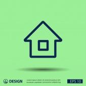 Pictograph of home icon — Vector de stock