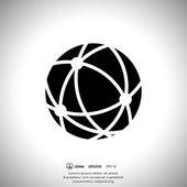 Pictograph of globe icon — Stock Vector