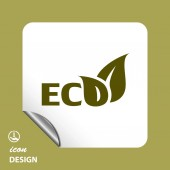Pictograph of eco icon — Stock Vector