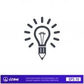 Pictograph of light bulb — Vecteur