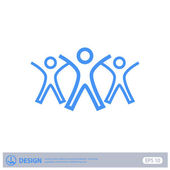 Pictograph of success team — Stock Vector