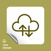 Пиктограмму облако значка — Cтоковый вектор