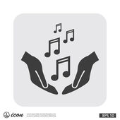Pictograph of music notes — Stock Vector