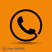 Pictograph of phone icon — Stock Vector