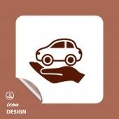 Pictogramme d'icône de voiture — Vecteur
