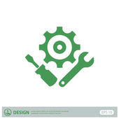Pictograph of gears icon — Stock vektor