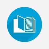Pictograph of open book — Vetor de Stock