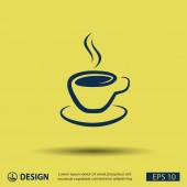 Pictograph of cup icon — Vector de stock
