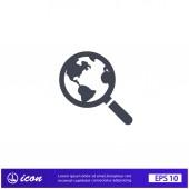 Pictograph of search icon — Vector de stock