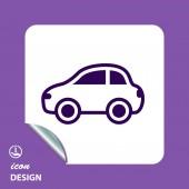 Pictograph of car icon — Vetor de Stock