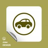 Pictograph of car icon — Stock Vector
