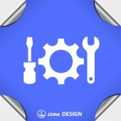 Pictograph of gear tools — Stock Vector