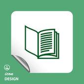 Pictograph van boekpictogram — Stockvector