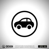 Pictograma de icono de coche — Vector de stock