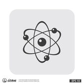 Pictograph of atom icon — Stock Vector