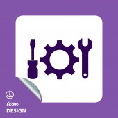 Piktogramm der Verzahnungswerkzeuge — Stockvektor