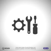 Pictograph of gears icon — Stock Vector