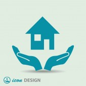 Pictograph of home icon — Vector de stock