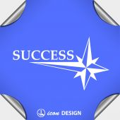 Pictograph of success icon — Stock Vector