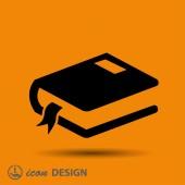 Pictograph of book icon — Vetor de Stock