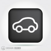Pictograph of car icon — Stock Vector