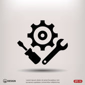 Pictograph of gears icon — 图库矢量图片