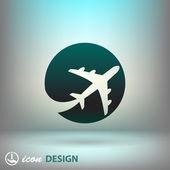 пиктограмму иконка самолет — Cтоковый вектор