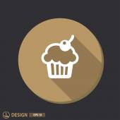 Pictograph of cake icon — Stock Vector