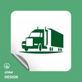 Pictograph of truck car — Stock Vector