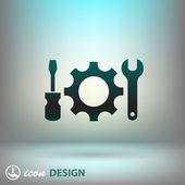Pictograph of gear tools — Cтоковый вектор