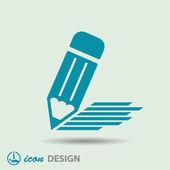 Pictograph of pencil icon — Stock Vector