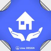 Pictograph of home icon — Stock Vector