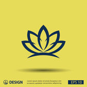 Pictograph of lotus flower — Stock Vector