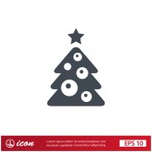 Pictograph of christmas tree — Stock Vector