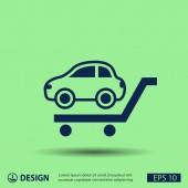 Simple pictograph of car — Stockvektor