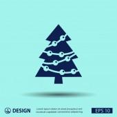 Piktogramm weihnachtsbaum — Stockvektor