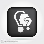 Question mark and man icon — Wektor stockowy
