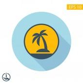 象形文的棕榈岛 — 图库矢量图片