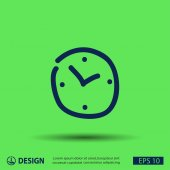 Pictograma de ícone de relógio — Vetor de Stock